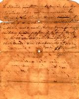 1822 Nov. 8, Petition to run a ferry on the Chatahoochy River