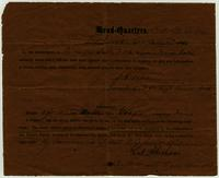 Civil War parole certificate