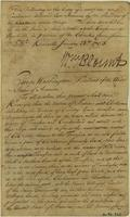 Copy of a letter by George Washington delivered to Opio Mingo at a conference in Nashville