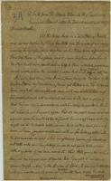 Copy of a letter from The Bloody Fellow in Lookout Mountain to Governor William Blount