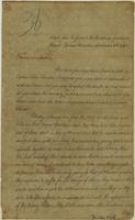 Copy of a letter from the Glass a Chief of the Cherokees, the 10th of September, 1792 to Governor Blount