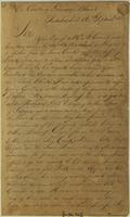 Copy of a letter from Tim Barnard, D. A: U. S to Governor Blount, September 16th, 1795