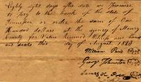 1823 Aug. [to] The bank of Tennessee