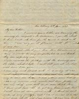 [Letter] 1850 Jan. 12, New Albany [to] Father [Ethel Henry Porter]