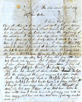 [Letter] 1849 Oct. 8 [to Mary Porter]