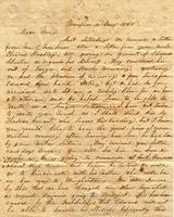 [Letter] 1846 May 2, Memphis [Tennessee] [to] Mary C. Porter