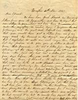 [Letter] 1847 Nov. 30, Memphis [to] Edward E Porter, Bridg[e]port, Con[necticut]