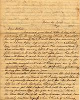 [Letter] 1843 May, Columbia, Tenn[essee] [to] Col[onel] R[obert] J. Chester, Jackson, Tenn[essee]