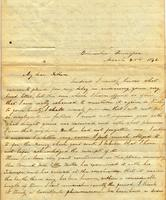 [Letter] 1843 Mar. 28, Columbia, Tennessee [to] Col[onel] Robert J. Chester, Jackson, Tenn[essee]