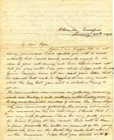 [Letter] 1843 Jan. 28, Columbia, Tennessee [to] Col[onel] Rob[er]t J. Chester, Jackson, Tennessee