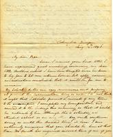 [Letter] 1843 Jan. 14, Columbia, Tennessee [to] Col[onel] R[obert] J. Chester, Jackson, Tennessee