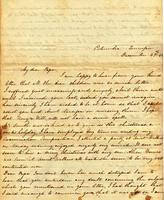 [Letter] 1842 Dec. 29, Columbia, Tennessee [to] Col[onel] Robert J. Chester, Jackson, Tennessee