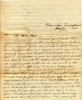 [Letter] 1842 Dec. 14, Columbia, Tennessee [to] Col[onel] Robert J. Chester, Jackson, Tenn[essee]