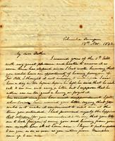[Letter] 1842 Nov. 13, Columbia, Tennessee [to] Col[onel] R[obert] J Chester, Jackson, Tennessee