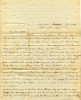 [Letter] 1842 Oct. 16, Columbia, Tennessee [to] Col[onel] Robert J. Chester, Jackson, Tennessee