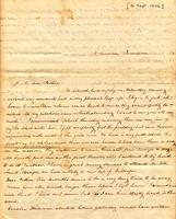 [Letter] 1842 Sep. 6, Columbia, Tennessee [to] Col[onel] R[obert] J. Chester, Jackson, Tennessee