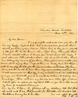 [Letter] 1841 June 18, Columbia Female Institute [to] Mrs. Elizabeth Chester, Jackson, Tennessee