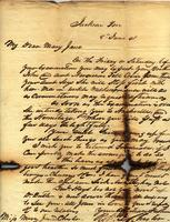 [Letter] 1841 Jun. 8, Jackson, Ten[nessee] [to] Mary Jane Chester, Columbia, Ten[nessee]
