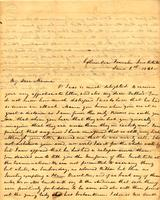 [Letter] 1841 June 1, Columbia Female Institute [to] Mrs Elizabeth Chester, Jackson, Tennessee