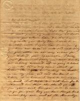 [Letter] 1841 May 14, Jackson, [Tennessee] [to] Mary J[ane] Chester, Female Institute, Columbia, Ten[nessee]