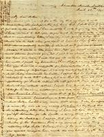 [Letter] 1841 Mar. 28, Columbia, [Tennessee] [to] Elizabeth Chester, et al., Jackson, Tennessee