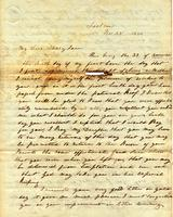 [Letter] 1840 Nov. 22, Jackson, [Tennessee] [to] Mary Jane Chester, Columbia, Ten[nessee]