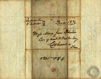 [Letter] 1840 Oct. 5, Jackson, Ten[nessee] [to] Mary Jane Chester, Columbia, Ten [nessee]