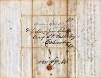 [Letter] 1840 Sept. 29, Jackson, Tennessee [to] Mary Jane Chester, Columbia, Ten[nessee]