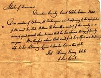 [Certificate to study law] 1830 Oct. [for] William R. Caswell