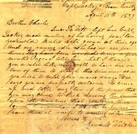 1839 Apr. 15, Roane County [to] Mr. Cha[rle]s F. Welcker, Kingston, Tennessee