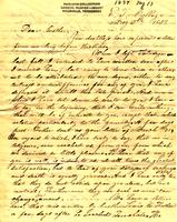 1837 May 13, E[ast] T[ennessee] College [to] Mr. Charles F. Welcker, Talladega, Alabama