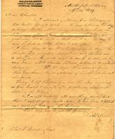 1839 Apr. 23, Mouth of Sweet Water [to] Mr. Charles F. Welcker, Laurel Banks, Roane Co[unty], Ten[nessee]