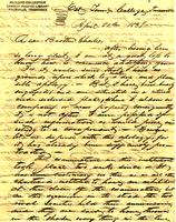 1837 Apr. 20, East Tenn[essee] College, Knoxville [to] Mr. Charles F. Welcker, Talladega, Ala[bama]