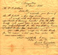 1836 Dec. 16, Knoxville [to] Mr. N A McBee, East Tennessee College