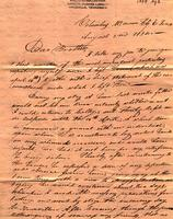 1834 Aug. 2, Columbus, McMinn C[oun[ty], E[ast] Tenn[essee] [to] Charles F. Welcker, Talladega Court house, Ala[bama]