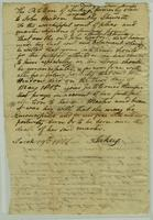 Emancipation Petition of slave, Sukey