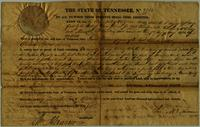 State of Tennessee, No. 9704, land grant to Charles McClung and Alexander McMullin, 10 acres in Jackson County