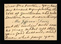 Mrs. Jefferson Davis in New York, New York to Mrs. John Overton in Nashville, Tennessee