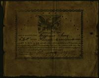 Honorable Discharge of Benjamin Chears from service in the Seminole War