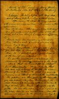 Minutes of the Trial of Mary Hooker in Bethesda, Tennessee