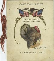 Camp Evan Shelby Thanksgiving 1933 Menu and Roster
