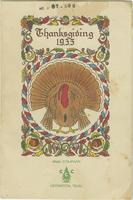 Camp Tenn., TVA 29 Thanksgiving, 1935, Menu and Roster