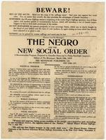 Beware! The Negro and the New Social Order