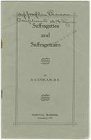 Suffragettes and Suffragettism