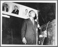 Dr. Martin Luther King, Jr. speaks at Freedom Rally, Memphis, TN
