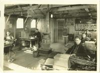 Staff at their desks, 223rd Co. C.C.C., TVA P-10, Powell Station, Tennessee