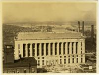 Davidson County Courthouse under construction, at the time of the flood of 1937