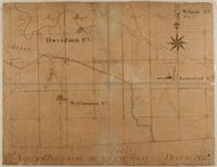Early Map of Davidson, Rutherford, Wilson and Williamson Counties