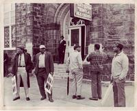 Strikers Outside Clayborn Temple