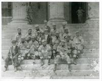 Baseball Team on Administration Building Steps